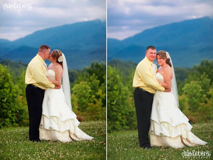 Yanci Dennis & Scott Williams :: Married on a Mountain Top :: Gatlinburg Wedding, Julie Roberts Photography