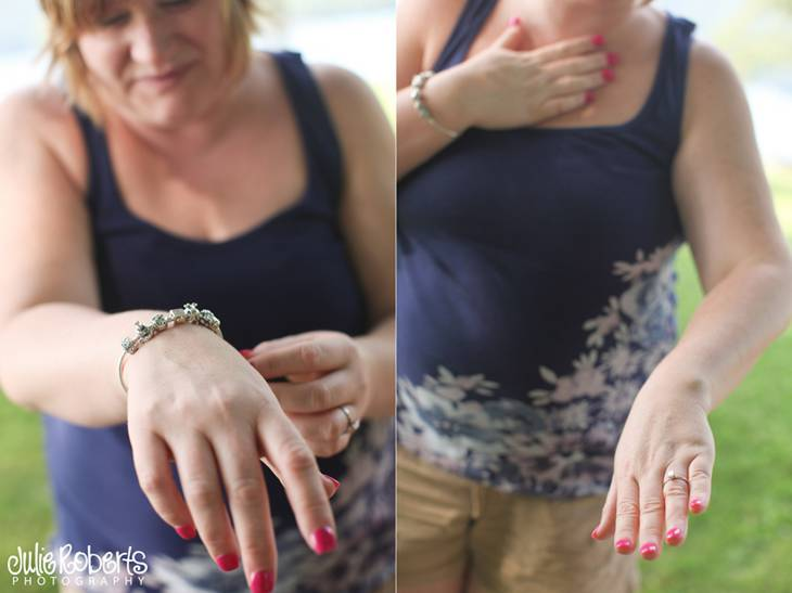 She held her heart when she showed me the ring :: Greta and Aaron, Julie Roberts Photography