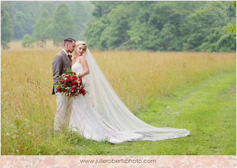 Woodland Inspiration Shoot with Lace Details and Red Flowers :  Knoxville Weddings : Styled by The Bride Link, Julie Roberts Photography