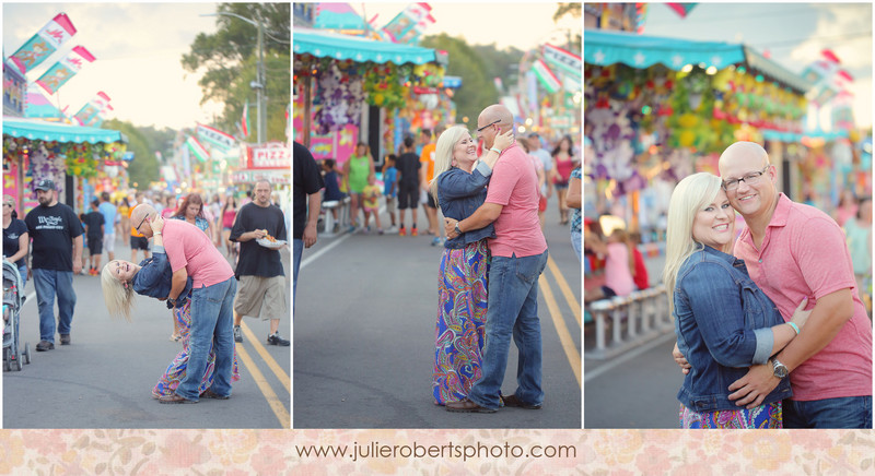 Tiffany & Norton - engagement at the Tennessee Valley Fair in Knoxville, Julie Roberts Photography